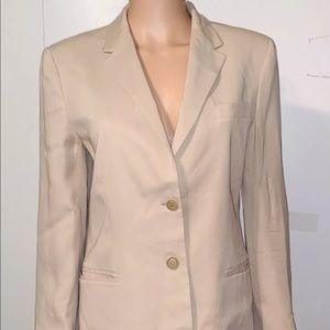 Woman's Tan Ralph Lauren Blazer Jacket Size 6